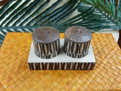 2-TIER COCO SHELL S&P SET